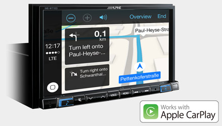 Online Navigation with Apple CarPlay - INE-W710DC