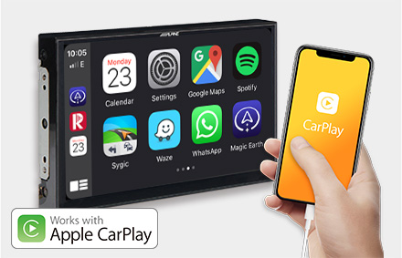 Works with Apple CarPlay - X903D-EX