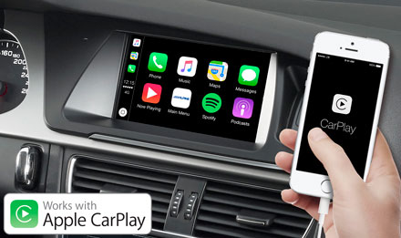 Audi A5 - Works with Apple CarPlay - X702D-A5