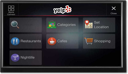 Yelp by Alpine Connect - Navigation System X701D-F